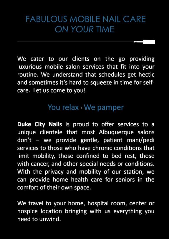 Duke City Nails – A Unique Mobile Nail Station